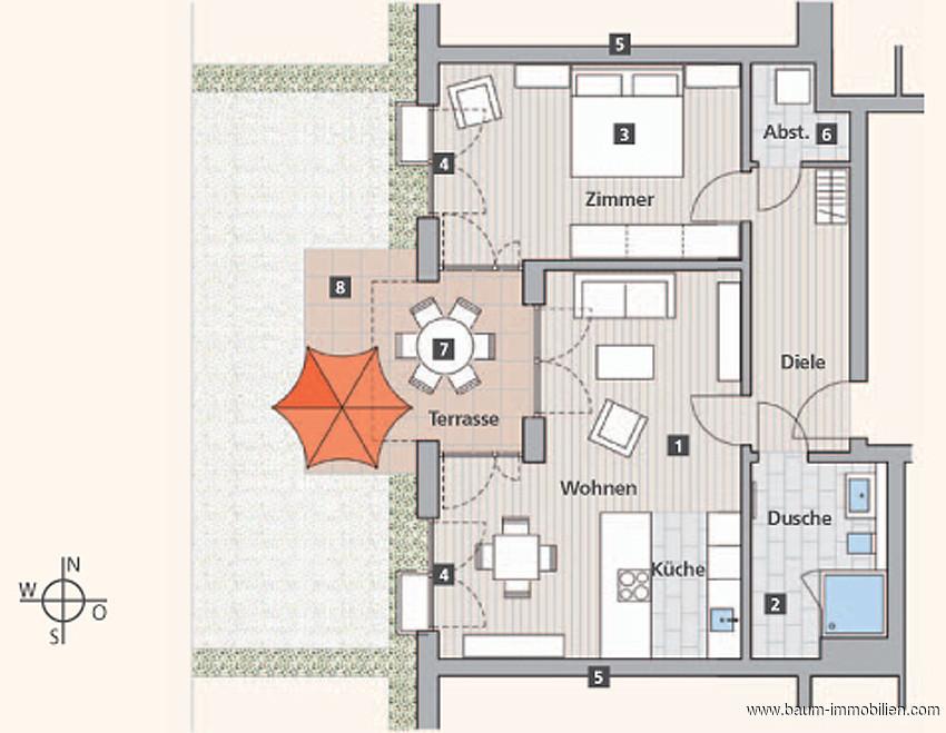 immobilie zum kauf 2 zimmer wohnung offenburg 73 m objekt details. Black Bedroom Furniture Sets. Home Design Ideas